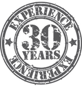 Years of experience stamp